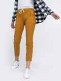 Укороченные брюки со стандартной посадкой коричневые 45624, фото 2