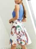 Шифоновая юбка-мини с абстрактным принтом белая 53885, фото 3