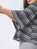 Серый комплект большого размера с блузкой в полоску 44436, фото 3