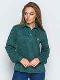 Рубашка зелёного цвета из ангоры с термонаклейкой на полочке 17759, фото 1