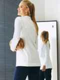 Белый пиджак из льняной ткани с лацканами 54100, фото 3