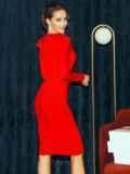 Облегающее платье-миди красного цвета 52060, фото 4