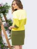 Платье прямого кроя желтое 44993, фото 2