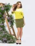Платье прямого кроя желтое 44993, фото 3