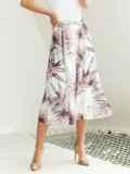 Шифоновая юбка-миди с цветочным принтом белая 54211, фото 2
