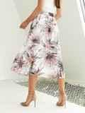 Шифоновая юбка-миди с цветочным принтом белая 54211, фото 3