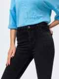 Чёрные джинсы со стразами и завышенной талией 44060, фото 4