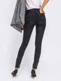Обтягивающие джинсы черного цвета с завышенной талией 41934, фото 2