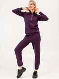 Фиолетовый костюм с брюками на резинке и кофтой с молнией 53085, фото 1