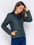 Демисезонная куртка с воротником на кнопке тёмно-серая 40223, фото 4