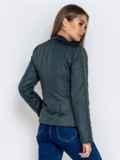 Демисезонная куртка с воротником на кнопке тёмно-серая 40223, фото 5