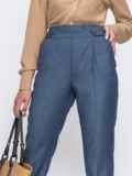 Синие брюки с подворотами и резинкой в талии 49489, фото 2