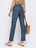 Синие брюки с подворотами и резинкой в талии 49489, фото 3