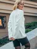 Белый свитер со спущенной линией плечевого шва 50210, фото 3
