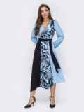 Голубое платье с принтом и асимметричным подолом 52966, фото 2