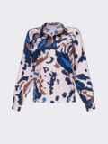 Розовая блузка с принтом на пуговицах 54635, фото 6