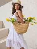 Платье из белой прошвы с многоярусной юбкой 49370, фото 3