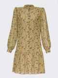 Платье с цветочным принтом и воланом по низу оливковое 55040, фото 4