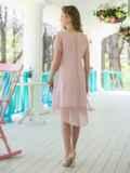 Двухслойное платье из шифона с подкладкой из трикотажного полотна 11638, фото 3