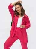 Коралловый костюм со свободной рубашкой и брюками-джоггерами 54322, фото 1
