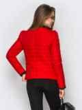 Красная куртка с контрастной рюшей на полочке 12939, фото 3