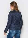 Тёмно-синяя куртка с воротником на кнопке 12935, фото 3