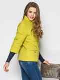 Желто-зелёная куртка на силиконе с рукавом 3/4 12954, фото 2