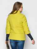 Желто-зелёная куртка на силиконе с рукавом 3/4 12954, фото 3