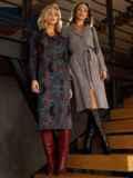 Чёрное платье-рубашка из трикотажа с принтом 52643, фото 3