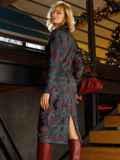 Чёрное платье-рубашка из трикотажа с принтом 52643, фото 5
