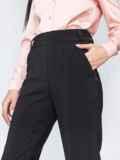 Чёрные брюки на резинке с завышенной талией 45807, фото 2