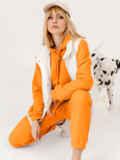 Оранжевый костюм из худи и штанов на резинке 53559, фото 2