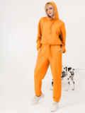 Оранжевый костюм из худи и штанов на резинке 53559, фото 3
