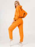 Оранжевый костюм из худи и штанов на резинке 53559, фото 5