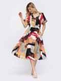 Платье-миди с принтом и расклешенной юбкой 48041, фото 2