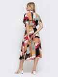Платье-миди с принтом и расклешенной юбкой 48041, фото 3