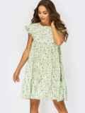 Платье-трапеция в цветочный принт 53899, фото 2