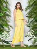 Желтый сарафан-макси с американской проймой 21950, фото 2
