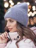 Двойная шапка-колпак сиреневого цвета 40308, фото 2