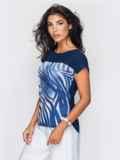 Блузка из софта свободного силуэта, без застёжек 14320, фото 6