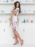Платье приталенного силуэта с цветочным принтом 12622, фото 2