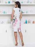 Платье приталенного силуэта с цветочным принтом 12622, фото 3