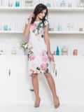 Платье приталенного силуэта с цветочным принтом 12622, фото 4