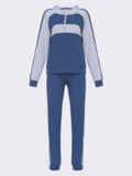 Синий спортивный костюм из кофты с капюшоном и брюк 52651, фото 4