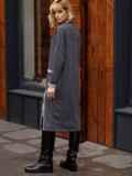Платье графитового цвета с разрезами спереди 52629, фото 5