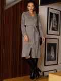 Серое платье из замши на пуговицах 52637, фото 3