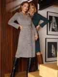 Серое платье из замши на пуговицах 52637, фото 6