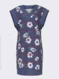 Темно-синее платье без рукавов с принтом 52627, фото 5