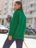 Зелёный свитер свободного кроя с воротником 54903, фото 4