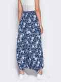 Принтованная юбка-трансформер синяя 12888, фото 3